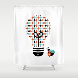 Enchanter: Bright Idea Art Series  Shower Curtain