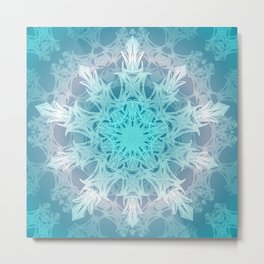 Pastel Snowflake Metal Print