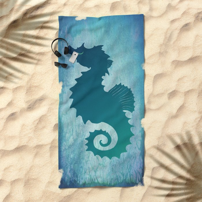 Seahorse of a Different Color ~ Marine Life ~ (Copyright 2015) Beach Towel