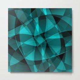 Minimal geometric background Metal Print