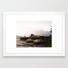 Abandoned cars in Colorado  Framed Art Print