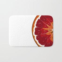 Orange print Bath Mat