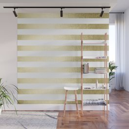 Simply Striped Gilded Palace Gold Wall Mural