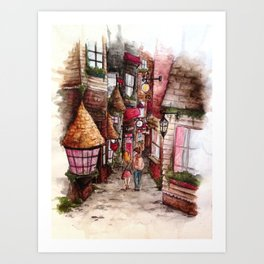 Diagon Ally Art Print