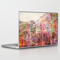 cleveland Laptop & iPad Skins featuring Cleveland by MapMapMaps.Watercolors
