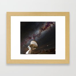 Contact! Search for ExtraTerrestrial Intelligence in the Stars! Framed Art Print
