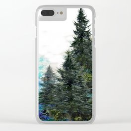 GREEN MOUNTAIN PINES LANDSCAPE Clear iPhone Case
