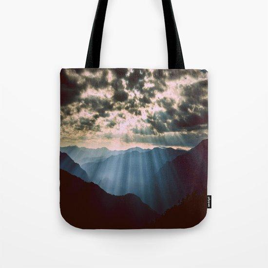 mountainS Dark Sunset Tote Bag