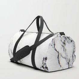 White Faux Marble Texture Sporttaschen