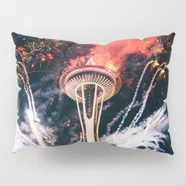 Seattle Space Needle Celebration Pillow Sham