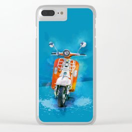 Vintage Scooter Clear iPhone Case