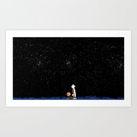 calvin and hobbes Art Prints featuring Calvin and Hobbes #3 by Frank Deuce