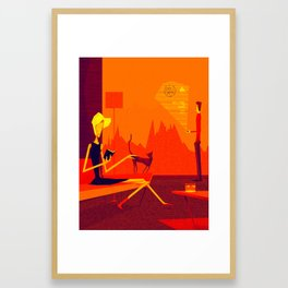Welcome to mars Framed Art Print