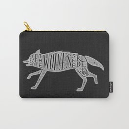 These Were The Wolves She Rode to War - Wolf by Wolf Carry-All Pouch