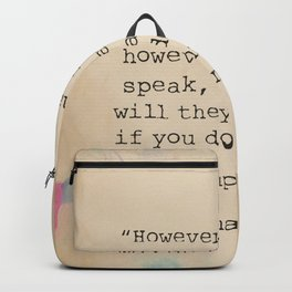 Buddha quote 30 Backpack