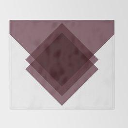 Modern Geometric Art Deco Burgundy Throw Blanket