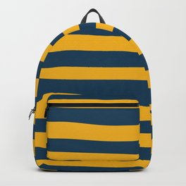 Yellow & Blue Stripes Pattern Backpack
