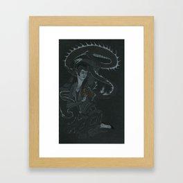 Lady Taming Dragon's Tongue Framed Art Print