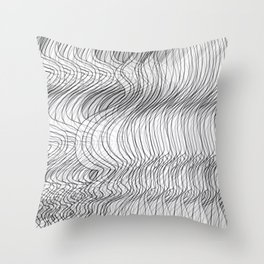 Multiplied Parallel Lines No.: 02. Throw Pillow