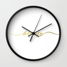 Golden beauty Wall Clock