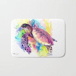 Sea Turtle in Coral Reef Bath Mat