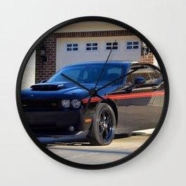2010 MOPAR '10 Black Challenger Limited Edition Red Stripe Variation Wall Clock