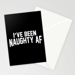 Naughty AF - Black Stationery Cards