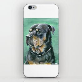 The Colorful Rottweiler Painting iPhone Skin