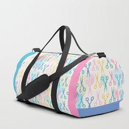 Hair Scissors Pastel Pattern Duffle Bag