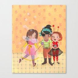 Friends in halloween Canvas Print
