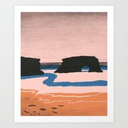 California Beach II Art Print