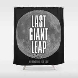 Last Giant Leap Shower Curtain