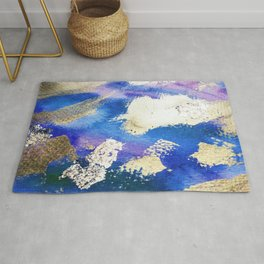 Gold Ocean Abstract Modern Design Rug