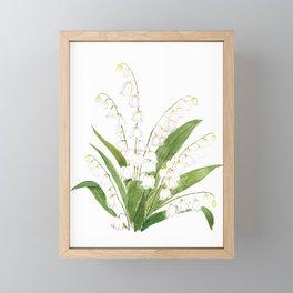 white lily of valley Framed Mini Art Print