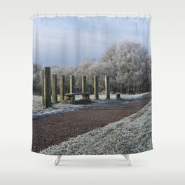 White Chasewater Country Park Shower Curtain