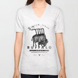 BUFFALO FACTORY Buffalo with smokestacks Unisex V-Neck