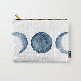 Blue Moon Phases Watercolor Carry-All Pouch