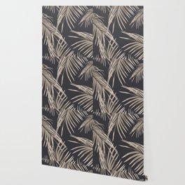 Sepia Palm Leaves Dream #1 #tropical #decor #art #society6 Wallpaper