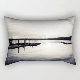 Pwllheli Marina - Mirror Reflection 02 Rectangular Pillow