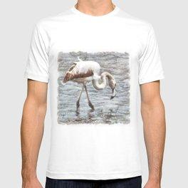 Knee Deep Flamingo Watercolor T-shirt