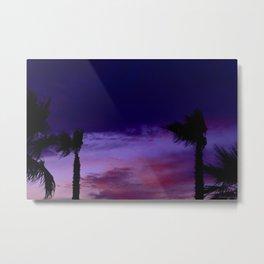 Palm Sunset - 9 Metal Print