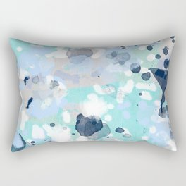 Riley - abstract gender neutral nursery home office dorm decor art abstract painting Rectangular Pillow