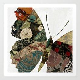 Butterfly Brocade I Art Print