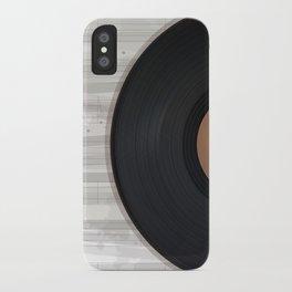 Vinyl reccord design iPhone Case