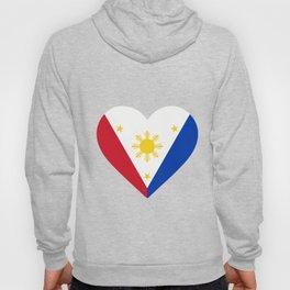 phillipines flag heart Hoody