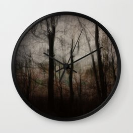 Darkness in the Forest Wall Clock
