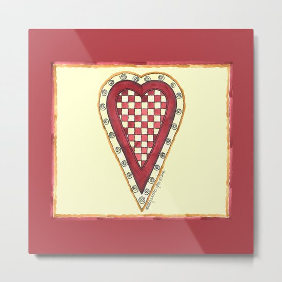 My Checkered Heart Metal Print