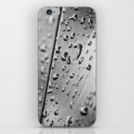 black and white drops iPhone Skin