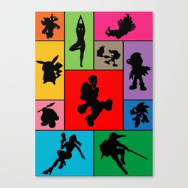 Super Smash Bros Who they are? Canvas Print