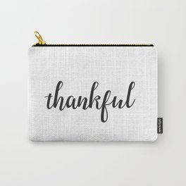 Thankful Lettering Design Carry-All Pouch